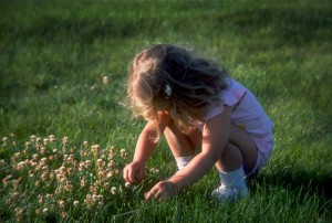 Tamara Picking Clover - Eric Rose Fine Art Photography