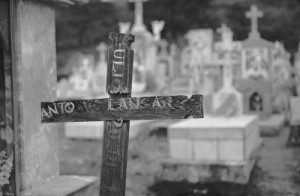 Eric Rose Photography - Old wooden cross in Mexican gravesite