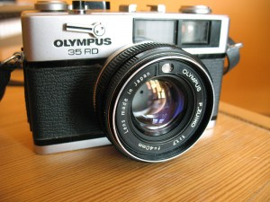 Front view Olympus 35RC - Reviewed by Eric Rose Fine Art Photography