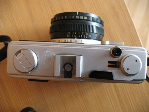 Top view Olympus 35RC - Reviewed by Eric Rose Fine Art Photography